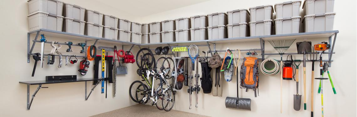 Garage Solutions. Shelving. Cabinets. Flooring. Overhead Storage