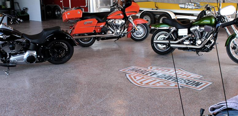 harley garage floor