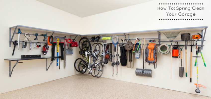 How to spring clean your garage monkey bar storage for Garage floor cleaning companies