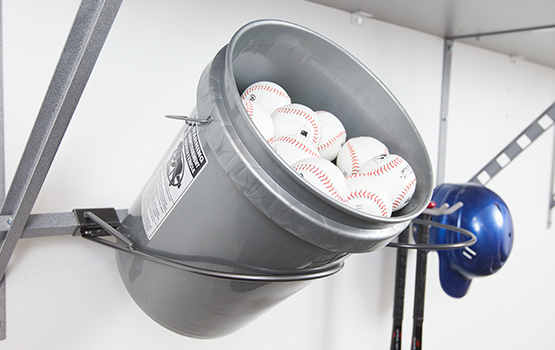 Garage Bucket Rack